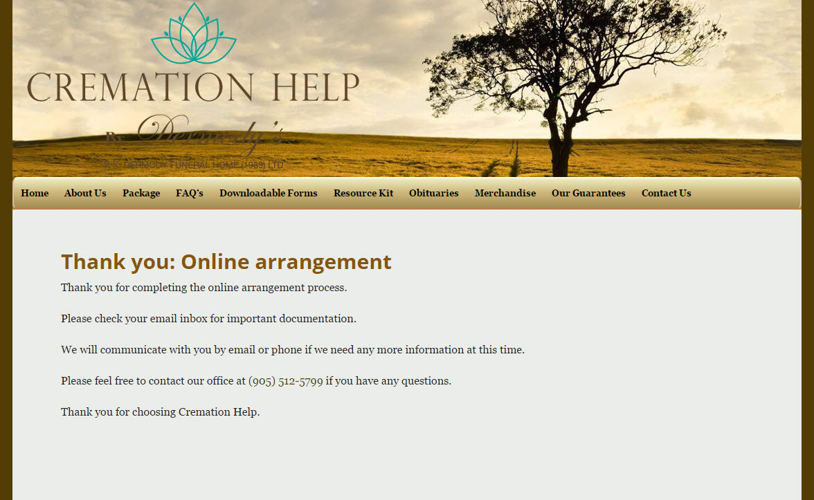 Online arrangement process guide cremation help solutioingenieria Image collections